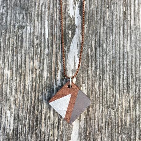 Marfa · Kette in silber und wildgrau