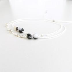 Fonna · Armband in Silber und Zebrajaspis