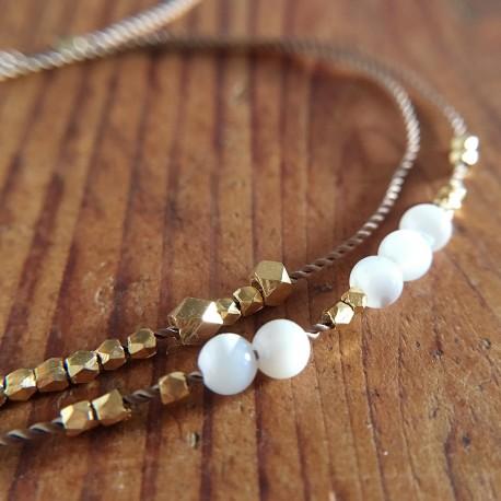 Hjortø · Armband in Gold und Perlmutt