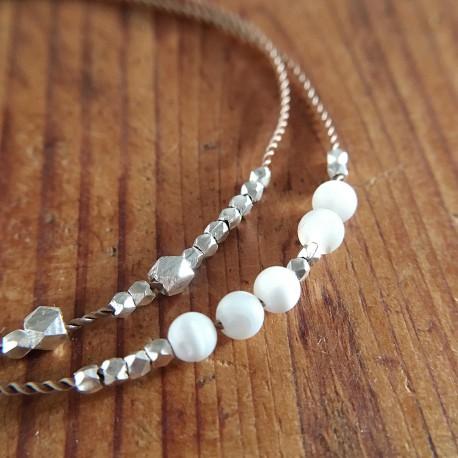 Hjortø · Armband in Silber und Perlmutt