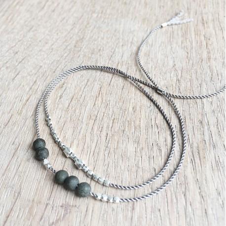 Asta · Armband in silber und grau