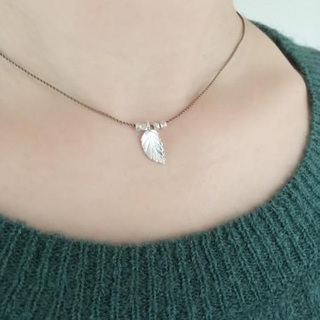 Blad · Kette in silber