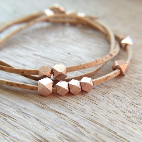 Aukra · Armband in roségold