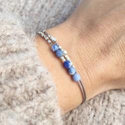 Mommark · Armband in silber und himmelblau