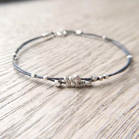 Søra · Armband in silber und dunkelgrau