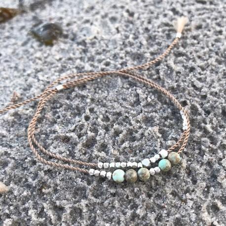 Sotra · Armband in silber und mint