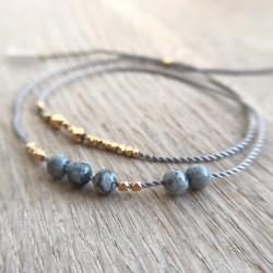 Lara · Armband in Gold und Jaspis
