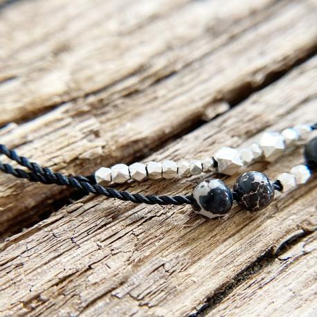 Krasa · Armband in silber und schwarz