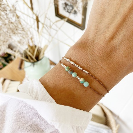 Vibæk · Armband in silber und türkis