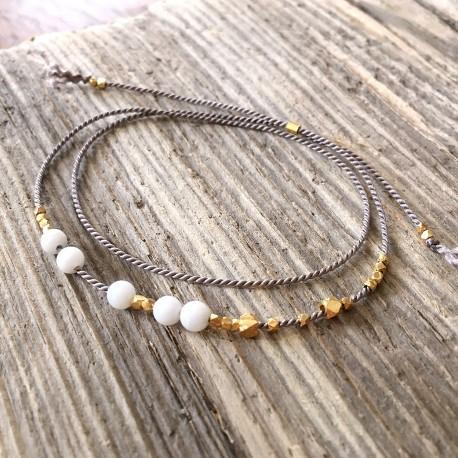 Ewa · Armband in gold und grau