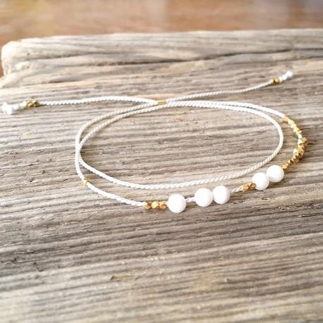 Ewa · Armband in gold und weiß